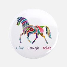 """Rainbow horse gift 3.5"""" Button (100 pack)"""