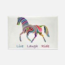 Rainbow horse gift Rectangle Magnet