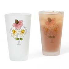 Pretty Daisies Drinking Glass