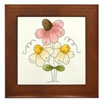 Pretty Daisies Framed Tile