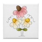 Pretty Daisies Tile Coaster