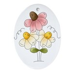 Pretty Daisies Ornament (Oval)