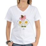 Pretty Daisies Women's V-Neck T-Shirt