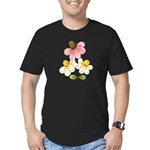 Pretty Daisies Men's Fitted T-Shirt (dark)
