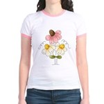Pretty Daisies Jr. Ringer T-Shirt