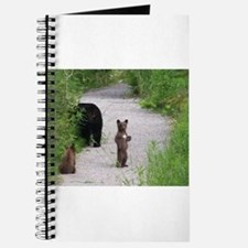 Funny Black bear cubs Journal