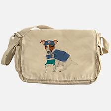Jack Russell Scrubs Messenger Bag