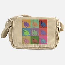Warhol Style Jack Russell Design on Messenger Bag
