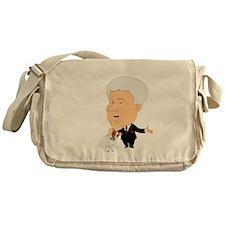 Clinton Petting A Jack Russel Messenger Bag