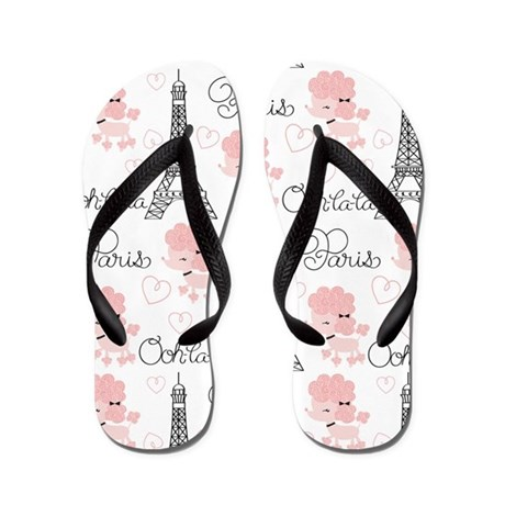 French Poodle Flip Flops