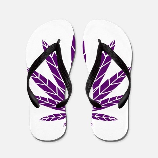 Purple Leaf Flip Flops