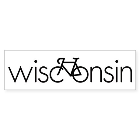 Bike Wisconsin Sticker (Bumper)