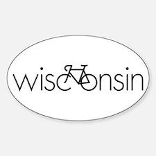 Bike Wisconsin Sticker (Oval)