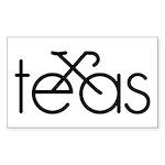 Bike Texas Sticker (Rectangle)