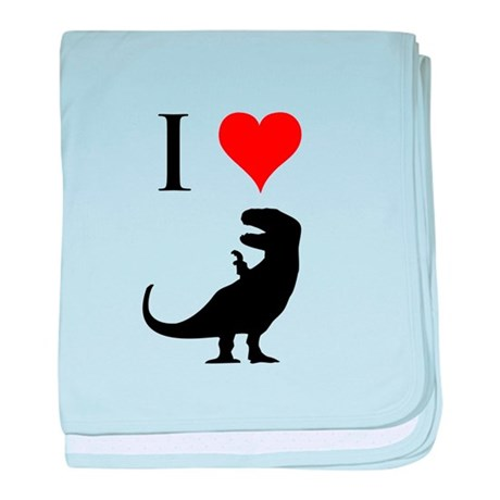 I Love Dinosaurs - T-Rex baby blanket