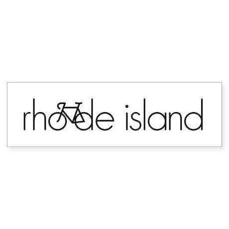 Bike Rhode Island Sticker (Bumper)