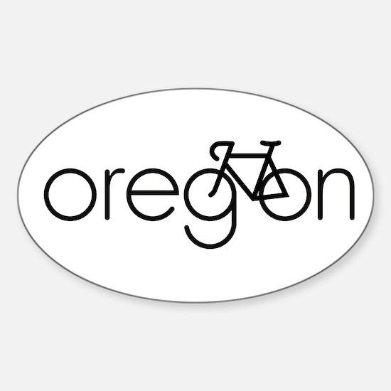 Bike Oregon Sticker (Oval)