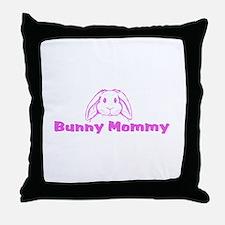 Bunny Mommy Throw Pillow