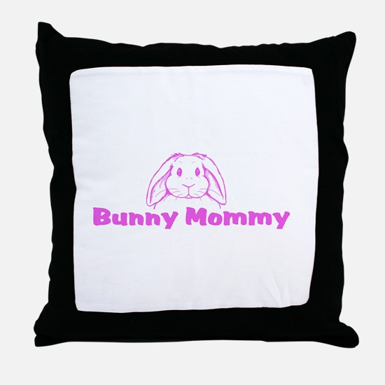 Bunny Mommy Throw Pillow