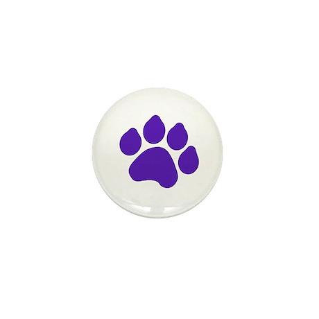 Blue Paw Print Mini Button (10 pack)