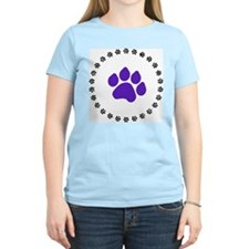 Blue Paw Print T-Shirt
