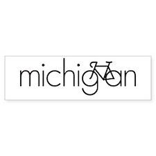Bike Michigan Bumper Sticker
