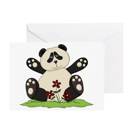 Panda Bear Hug Greeting Card