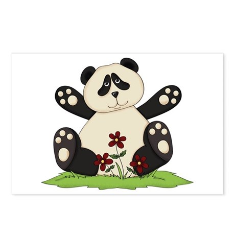 Panda Bear Hug Postcards (Package of 8)