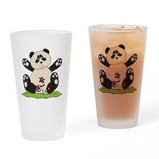 Panda Bear Hug Drinking Glass