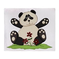 Panda Bear Hug Throw Blanket