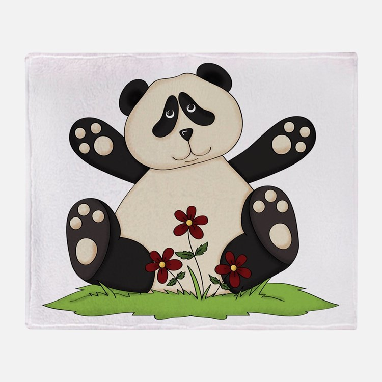 Panda Bear Hug Throw Blanket