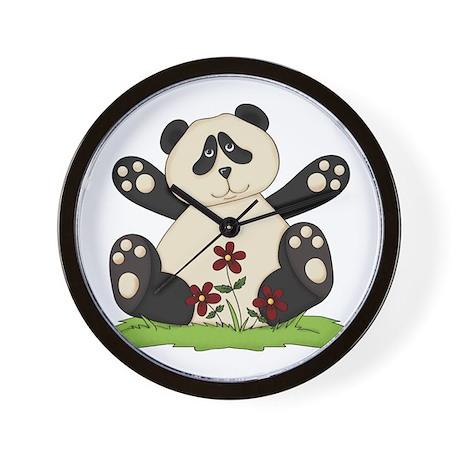 Panda Bear Hug Wall Clock