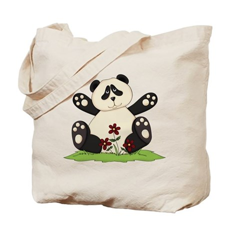 Panda Bear Hug Tote Bag