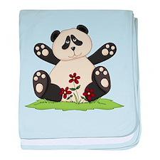 Panda Bear Hug baby blanket