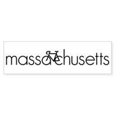 Bike Massachusetts Bumper Sticker