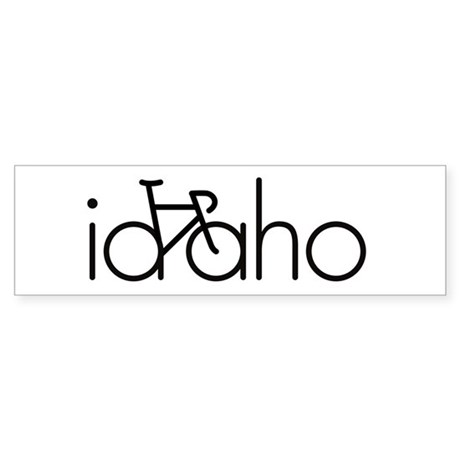 Bike Idaho Sticker (Bumper)