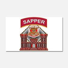 US Army Sapper Combat Enginee Car Magnet 20 x 12