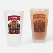 US Army Sapper Combat Enginee Drinking Glass