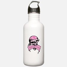 Breast Cancer Skull -- Fighting For A Cure Stainle