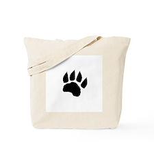 Black Paw Tote Bag
