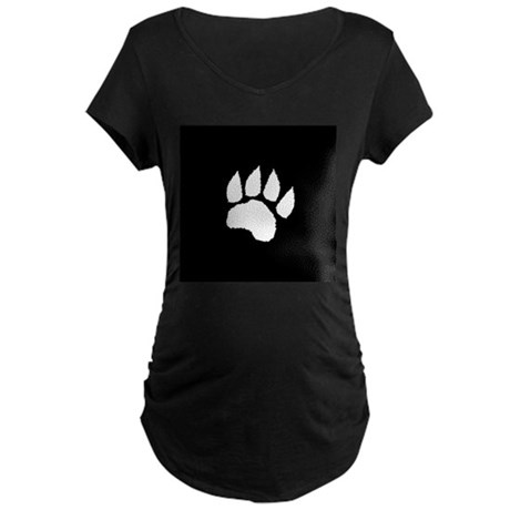 Black Paw Maternity Dark T-Shirt