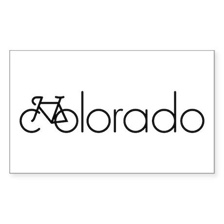 Bike Colorado Sticker (Rectangle)
