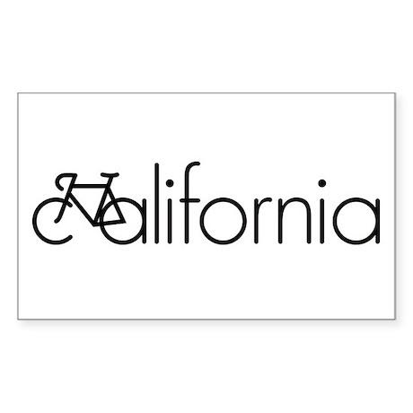 Bike California Sticker (Rectangle)