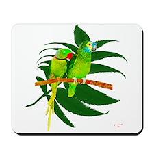 The Green Parrots Mousepad