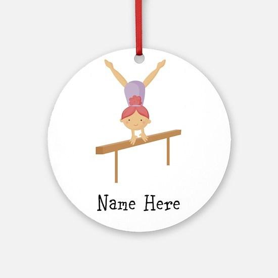 gymnast on beam Ornament (Round)