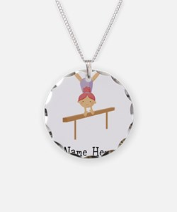 gymnast on beam Necklace