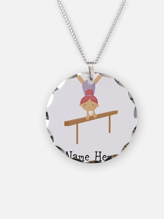 gymnast on beam Necklace