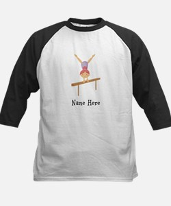 gymnast on beam Kids Baseball Jersey