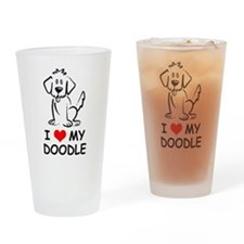I Love My Doodle Drinking Glass
