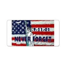 9-11-01 Never Forget Aluminum License Plate